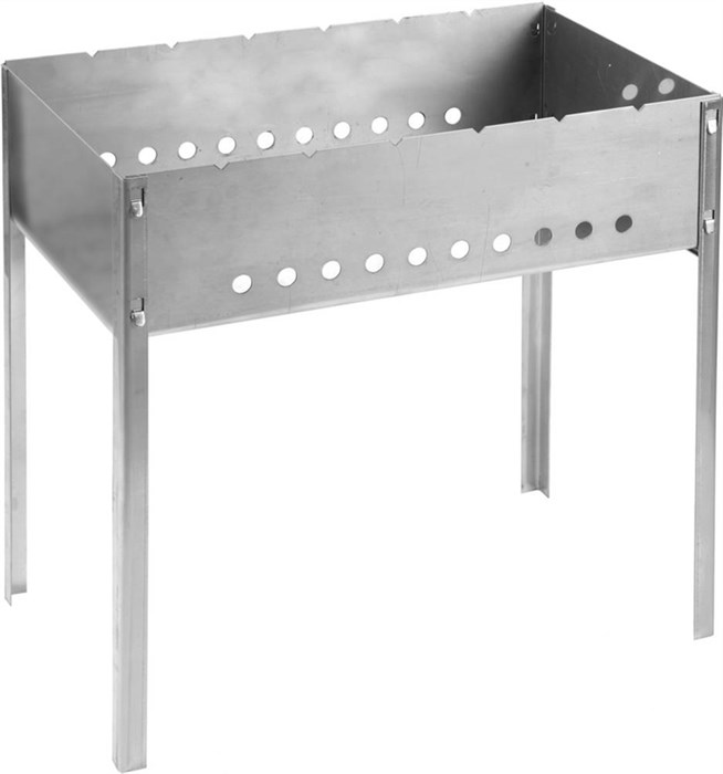 "Мангал GRINDA ""BARBECUE"", нержавеющая сталь, толщина 1,5мм, 500х300х500мм - фото 10104"