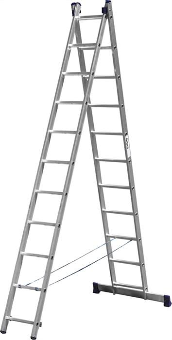 Лестница СИБИН универсальная, двухсекционная, 11 ступеней - фото 10364