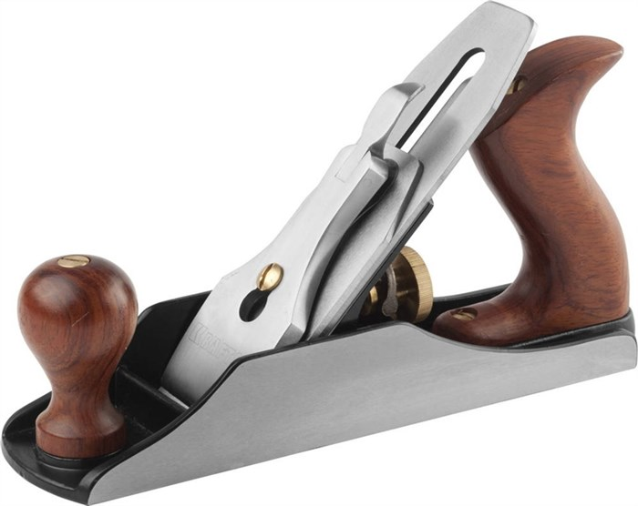 "Рубанок металлический, рукоятка - Бубинга, модель ""4"", 250x50мм, нож 50мм, лезвие 3мм, KRAFTOOL Premium серии ""PRO"" - фото 12440"