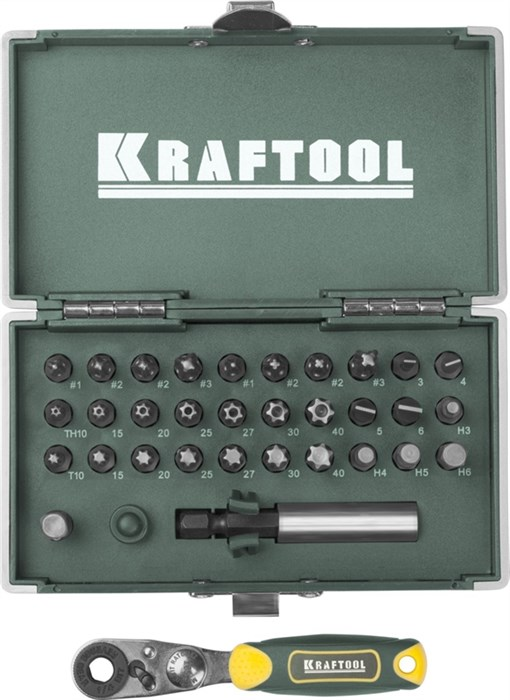 KRAFTOOL 33 шт., Cr-V, набор бит X-Drive 26065-H33 - фото 12559