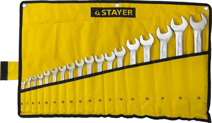 STAYER 18 шт, 6 - 32 мм, набор комбинированных гаечных ключей 27081-H18 - фото 12612