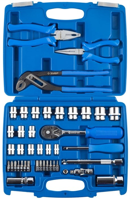 ЗУБР 42 шт., набор слесарно-монтажного инструмента 27672-H42 - фото 12692