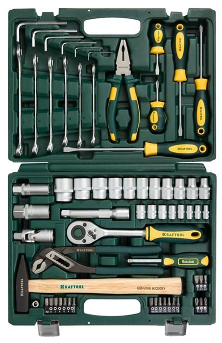 KRAFTOOL 66 шт., набор слесарно-монтажного инструмента 27976-H66 - фото 12758