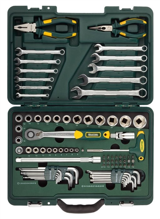 KRAFTOOL 84 шт., набор слесарно-монтажного инструмента 27977-H84 - фото 12760