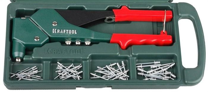 KRAFTOOL заклепки 2.4-4.8 мм, заклепочник поворотный RX-7 31176-H6 - фото 12799