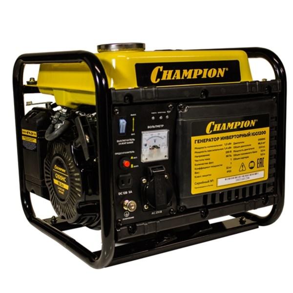 Генератор бензиновый CHAMPION IGG1200 - фото 21455