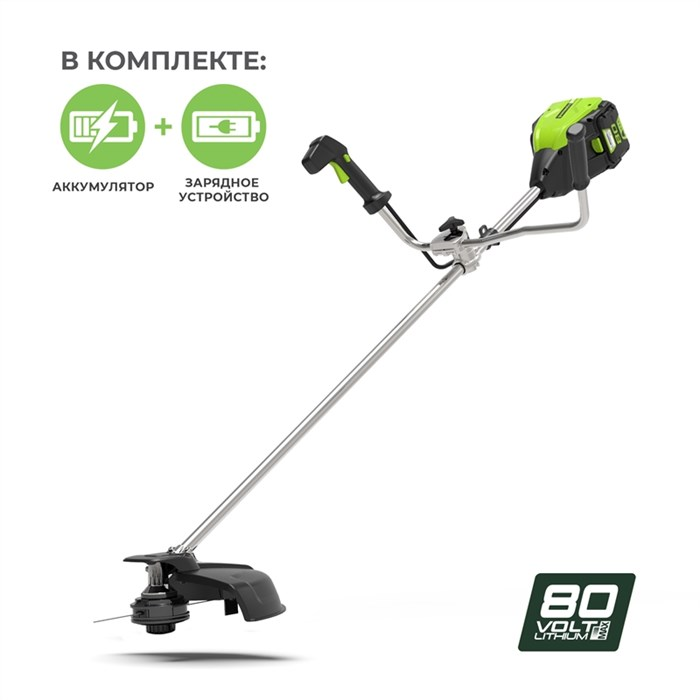 Greenworks GD80BCB, триммер аккумуляторный - фото 23926