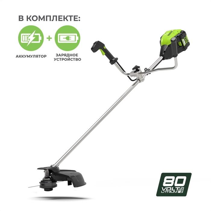 Greenworks GD80BCBK2, триммер аккумуляторный - фото 23928