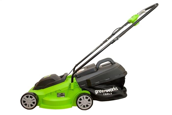 Greenworks , GLM1232, газонокосилка электрическая - фото 24073