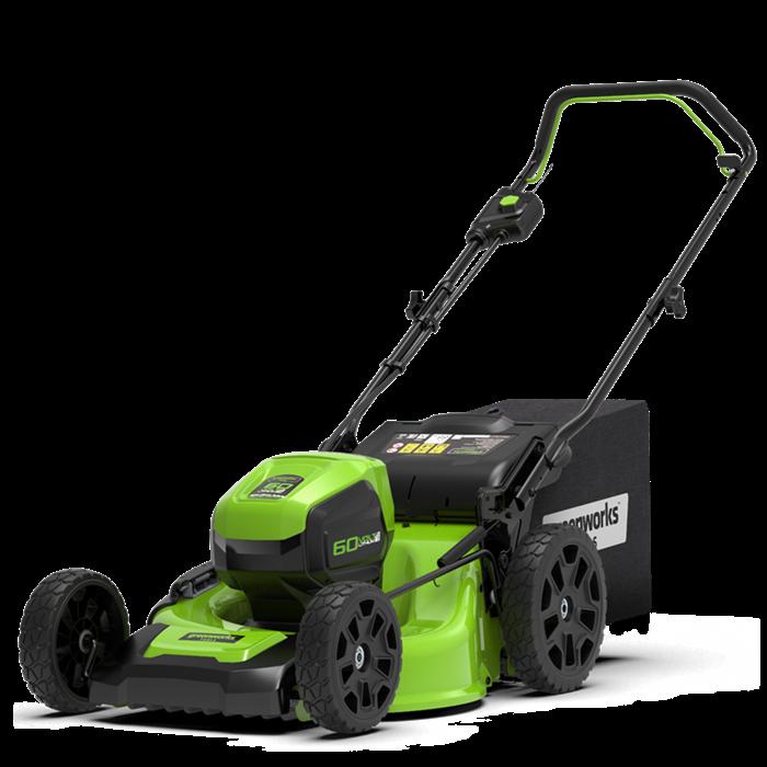 Газонокосилка аккумуляторная Greenworks GD60LM46HP - фото 24130