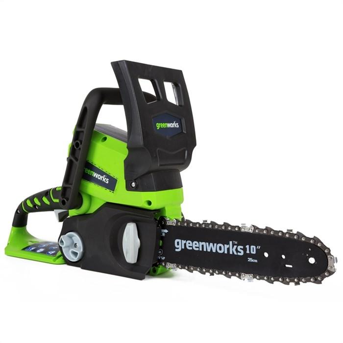 Цепная пила аккумуляторная GreenWorks G24CS25K2, 24V, 25см, c 1хАКБ 2 А.ч и ЗУ - фото 25088