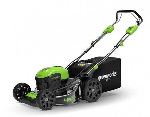 Greenworks GD40LM46 газонокосилка аккумуляторная - фото 25146