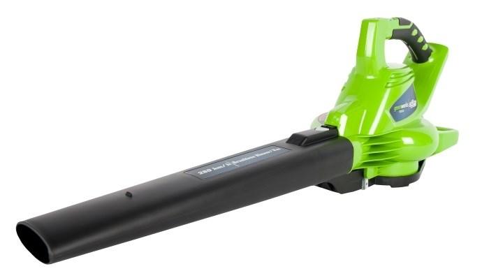 Воздуходув-Садовый Пылесос аккумуляторный Greenworks GD40BVK3 - фото 25243