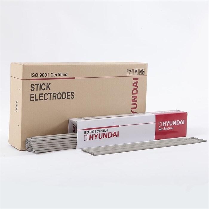 Сварочный электрод HYUNDAI S-7018.G д=4,0 мм, пачка 5 кг - фото 5042