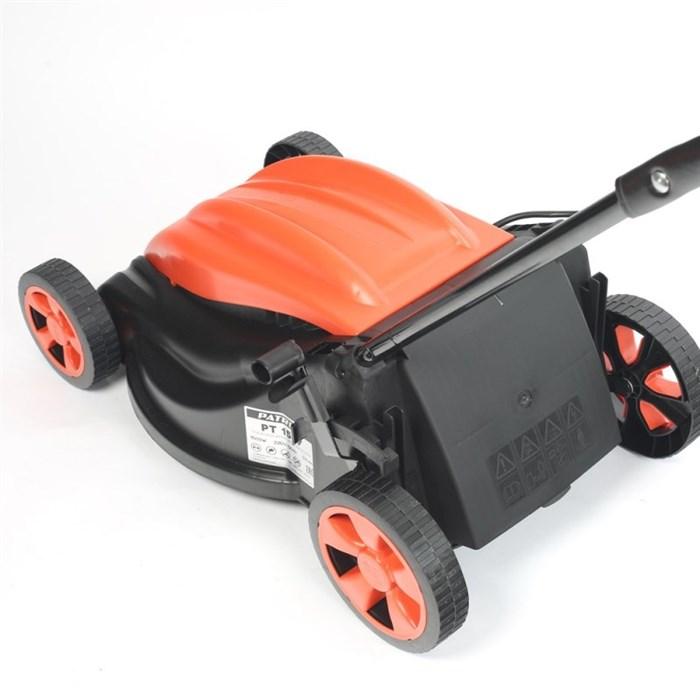 Газонокосилка электрическая PATRIOT PT 1537, бесщеточный мотор, 1500ВТ, ширина кошения 37см, травосборник 35л. пр-во Евросоюз - фото 5670