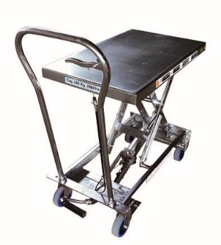 Стол подъемный TOR г/п 300 кг 830x500мм BS30S (нержавеющая сталь) - фото 64783
