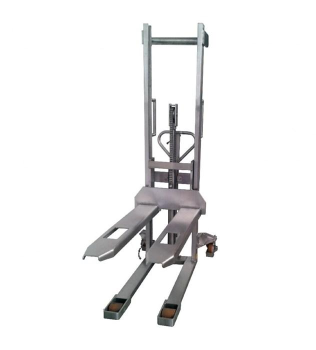 Штабелер ручной гидравлический TOR 1.0т 1.6м HSY10 (нержавеющая сталь) - фото 64785
