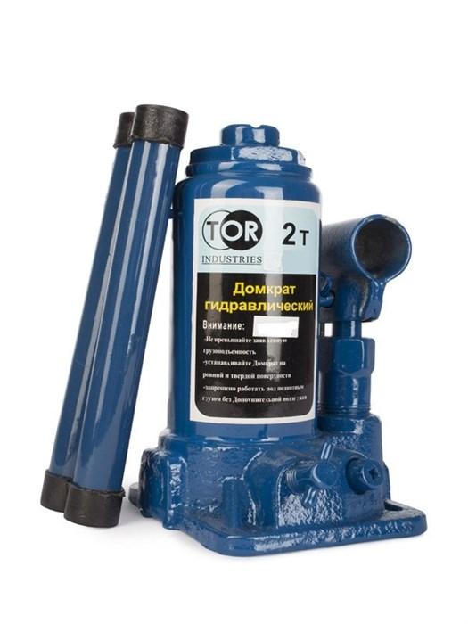 Домкрат гидравлический TOR ДГ-2 г/п 2,0 т (в пластиковом кейсе) - фото 64928