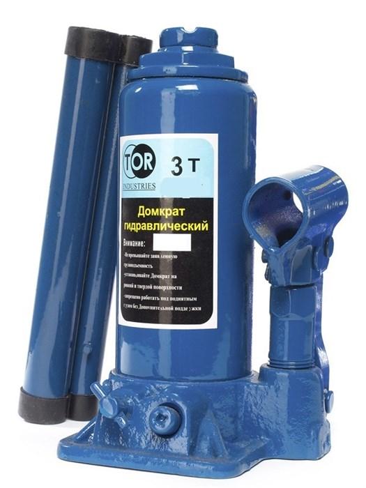 Домкрат гидравлический TOR ДГ-3 г/п 3,0 т (в пластиковом кейсе) - фото 64929