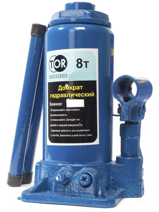Домкрат гидравлический TOR ДГ-8 г/п 8,0 т (в пластиковом кейсе) - фото 64931