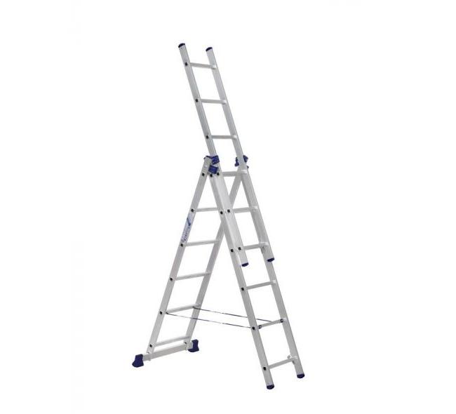 Лестница 3-секционная алюминиевая TOR VL3-7 - фото 65056