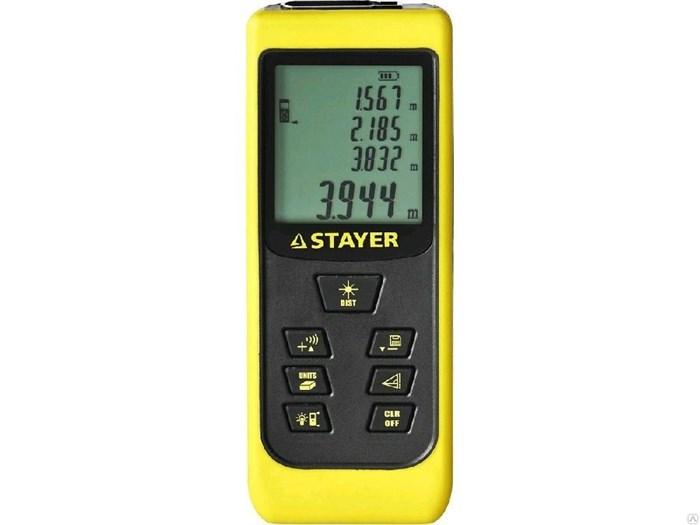 """Дальномер STAYER """"MASTER"""" MAX-Control лазерный, 2 точки отсчета, дальность 50м, точность 2мм - фото 6569"""