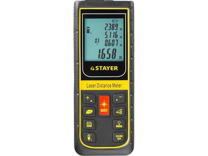 Дальномер PRO-Control лазерный, дальность 100м, точность 2мм, STAYER Professional 34959 - фото 6570