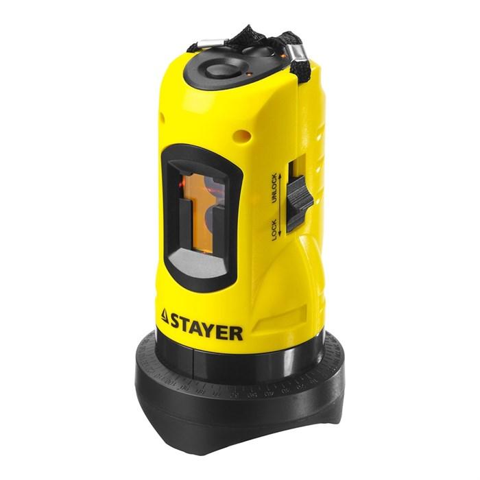 Нивелир лазерный линейный SLL-1, STAYER 34960, дальность 10м, точн. +/-0,5 мм/м - фото 7195