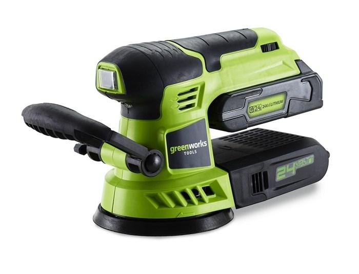 Шлифовальная машина, аккумуляторная Greenworks G24ROS, 24V, без АКБ и ЗУ - фото 8006