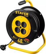 STAYER 40 м, 1300Вт, ПВС 2x0, удлинитель на катушке MS 207 55073-40