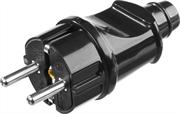 STAYER 16А/220 В, 1300 Вт, черная, вилка прямая MAXElectro 55160-B