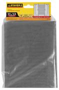 STAYER 1,1х1,3 м, стекловолокно+ПВХ, серая, для окон, в индивидуальной упаковке, сетка противомоскитн