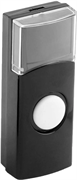 СВЕТОЗАР беспроводная, черная, сменная, кнопка для дверного звонка 58309