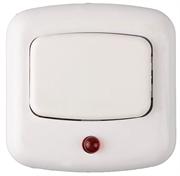 СВЕТОЗАР 220 В, подсветка, белая, кнопка для звонка 58303
