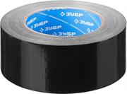 ЗУБР 48 мм х 45 м, черная, на тканевой основе, армированная лента (скотч) 12096-50-50 Профессионал