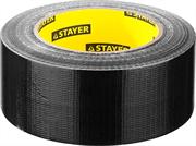 STAYER 48 мм х 45 м, черная, на тканевой основе, армированная лента (скотч) 12086-50-50