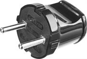 STAYER прямая, 6А/220 В, 1300 Вт, вилка прямая черная MAXElectro 55150-B