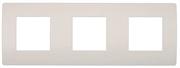 СВЕТОЗАР 3 гнезда, панель накладная горизонтальная SV-55210-3