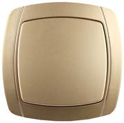 """СВЕТОЗАР 10А/~250В, металлик, одноклавишный, выключатель """"АКЦЕНТ"""" SV-54230-GM"""
