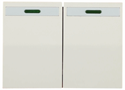 """СВЕТОЗАР двухклавишный, без вставки и рамки, выключатель """"ЭФФЕКТ"""" SV-54435-B"""