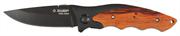 ЗУБР 185 мм/лезвие 80 мм, металлическая рукоятка с деревянными вставками, нож складной СТРЕЛЕЦ 47711