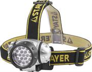 STAYER 19 LED, 3хAAA, налобный, фонарь налобный 56570