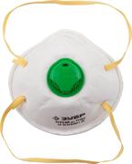 ЗУБР класс защиты FFP2, коническая, клапан, полумаска фильтрующая 11162