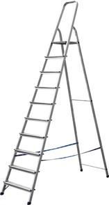 Лестница-стремянка СИБИН алюминиевая, 10 ступеней, 208 см