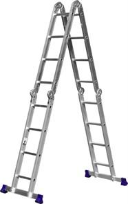 СИБИН ЛТ-44 лестница-трансформер, 4x4 ступени, алюминиевая.