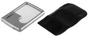 ЗУБР 3/6 кратное увеличение, 45x45 мм, пластиковая линза, лупа карманная 40545