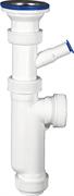 ЗУБР для моек и раковин, выпуск - нержавеющая чашка, отвод для стиральной машины, сифон колбовый 51857