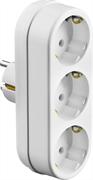 СИБИН 3 гнезда, 16А/220В, заземление, линейный, разветвитель сетевой 55099-3