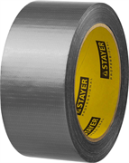 STAYER 48 мм х 25 м, серебристая, на тканевой основе, армированная лента (скотч) 12080-50-25