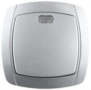 """СВЕТОЗАР 10А/~250В, серебристый металлик, одноклавишный, выключатель """"АКЦЕНТ"""" SV-54231-SM"""